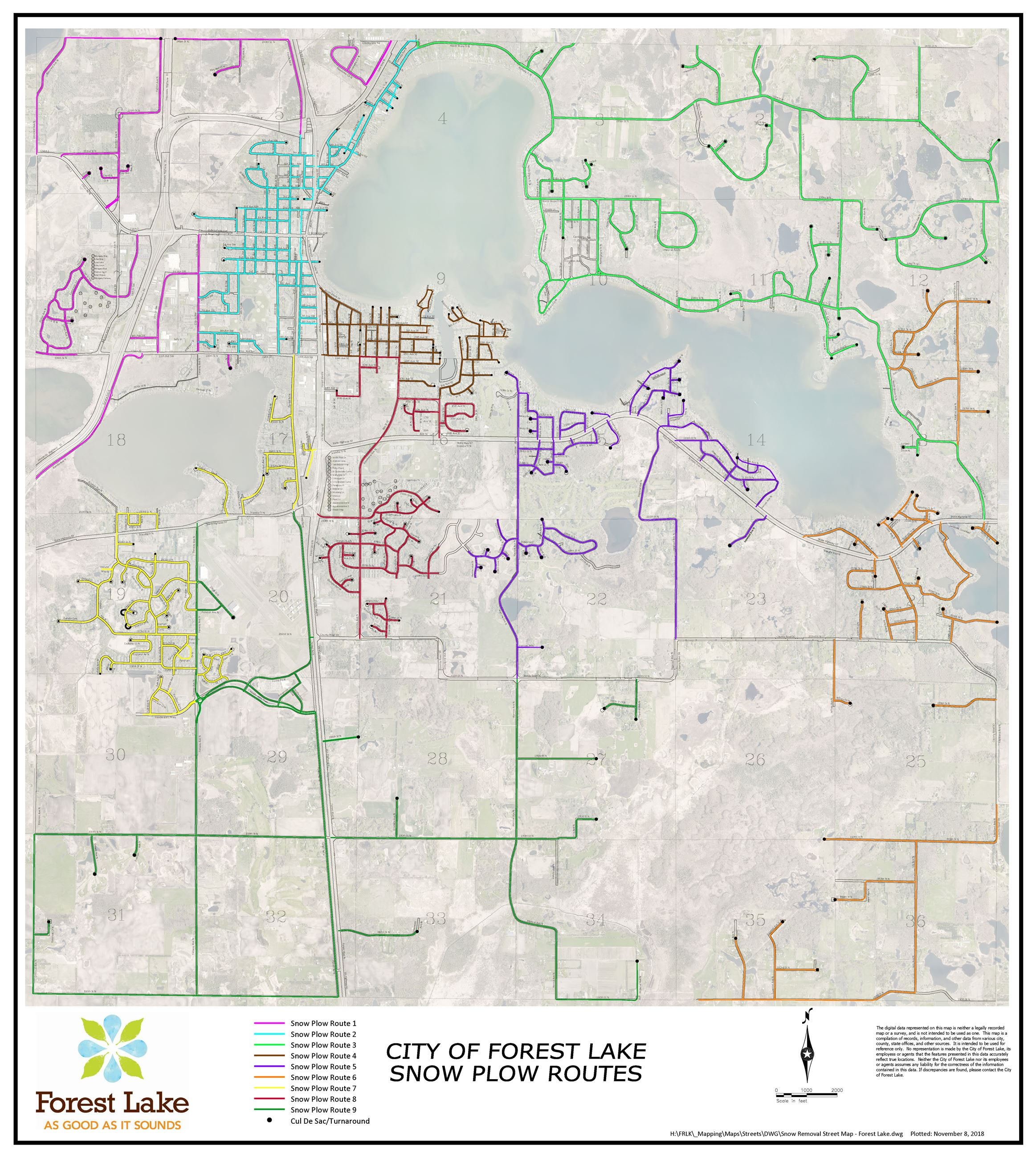 Snow Removal Street Map - Forest Lake-34x38_aerial